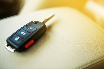 Einsamer Schlüssel im Auto